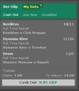 Cash out betting bet365 football binary options strategy wikipedia shqip