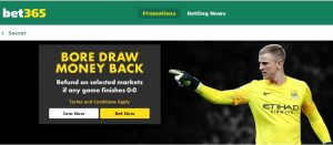 Bet365 Bore Draw Money Back